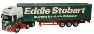 EDDIE STOBART SCANIA CURTAINSIDER diecast model Artic truck 1:50 CARARAMA CR005