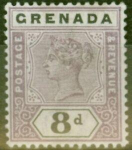 Grenada 1895 8d Mauve & Black SG54 Fine Lightly Mtd Mint
