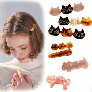 Fashion-Woman-Acrylic-Hair-Clip-Slide-Barrette-Cat-Hair-Accessories-Hairpin-Gift