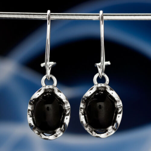 Onyx plata 925 aretes señora joyas Sterling plata h543