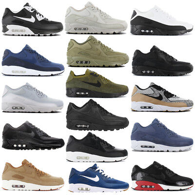 Nike Air Max 90 Premium Leather Ultra Essential 2.0 Mens Sneakers Shoes New | eBay