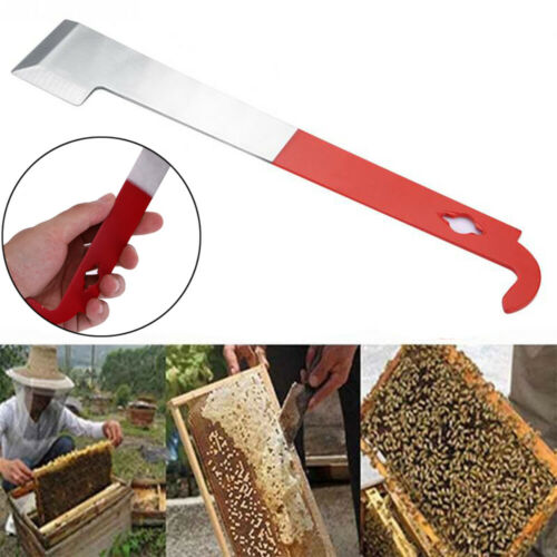 Stainless Frame Lifter and Scraper J Hook Tool Hive Tool Beekeeping Equipment