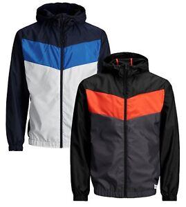 Jack-amp-Jones-Men-s-Core-Jaguar-Lightweight-Hooded-Jacket-Casual-Polyester-Coat
