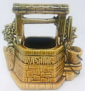 Vintage-McCoy-Pottery-Oh-Wishing-Well-Grant-A-Wish-To-Me-Planter-7x6-5x4