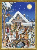 Richard Sellmer Verlag Traditional German Paper Advent Calendar - Christmas Barn