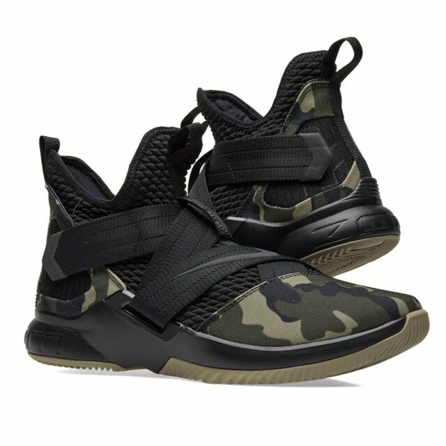 87fbd787eb2 Nike Lebron Soldier XII SFG Black Camo Basketball Mens Sz 10 Shoes  AO4054-001