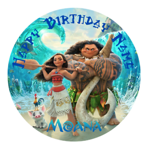 Moana Personalised Edible Kids Party Cake Decoration