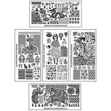 BMC 5pc Internationally Themed Nail Stamping Plates: Around the World Master Set