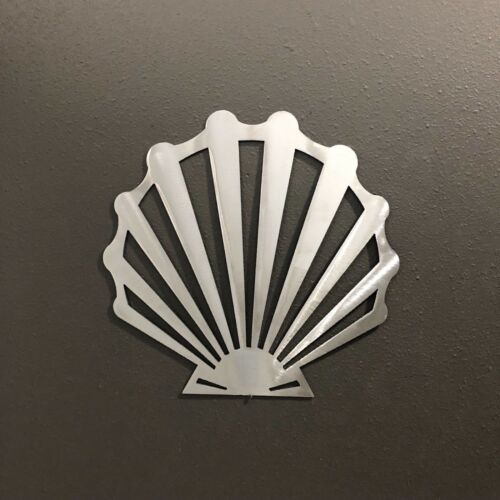 Scallop Shell Metal Wall Art Skilwerx 9 X 9 Nautical