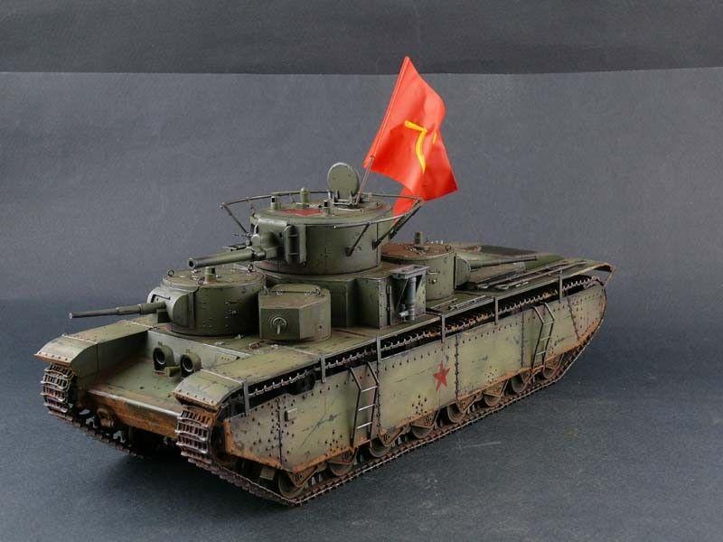1 35 Built Soviet Heavy Tank T-35 - Built 1 35
