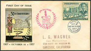 1957-50TH-ANNIVERSARY-OF-PHILIPPINE-ASSEMBLY-First-Day-Cover-B