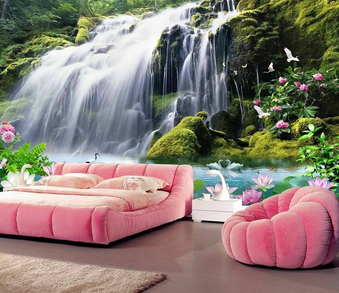 3D Dream Huge Waterfall Peak Wall Paper Wall Print Decal Wall Deco AJ WALLPAPER