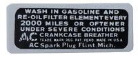1935-1948 Oldsmobile Oil Filler Cap Decal