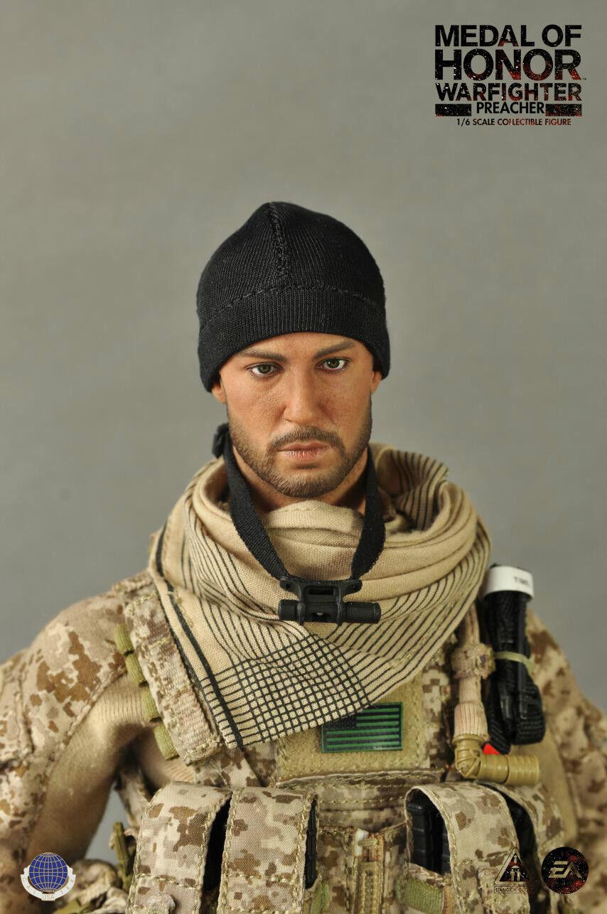Cal-Tek CalTek 1 6 scale 12  Soldier Medal of Honor Warfighter Preacher 8017