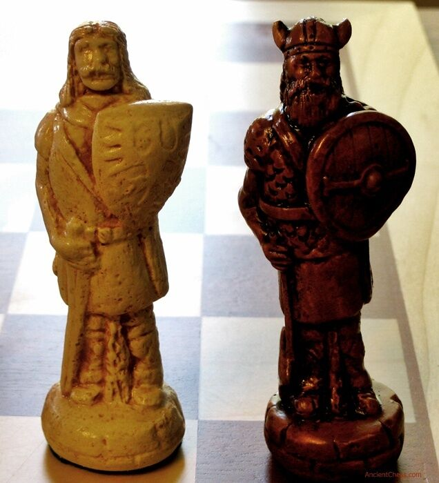 Ajedrez Vikingos vs. celtas Hombre - 10TH C. batalla-Hecho a Mano Set (Arce) 589
