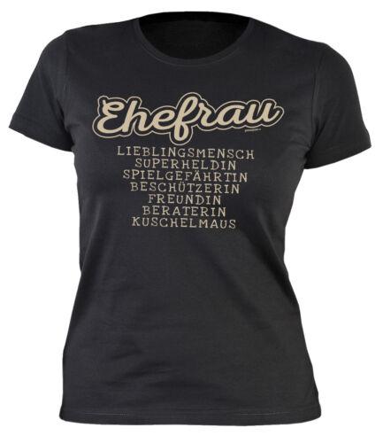 Frauen T-Shirt Ehefrau Ehefrau Sprüche Shirt Damen Jahrestag Hochzeitstag