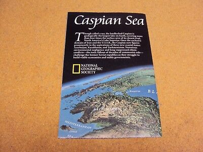 National Geographic MAP May 1999 CASPIAN SEA