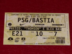 COLLECTION-SPORT-FOOTBALL-TICKET-PSG-BASTIA-2-AOUT-2003-Champ-France