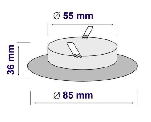 3 Stück Einbaustrahler CHROME IP65 Feuchtraum Wasserfest Spot für MR16//GU10