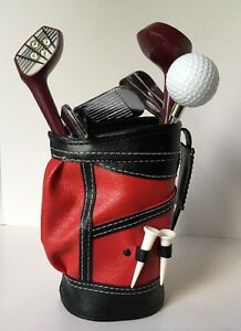 Vintage-Golf-Club-Bar-Cocktail-Tool-Set-in-Mini-Golf-Bag-6-pc-Mixology
