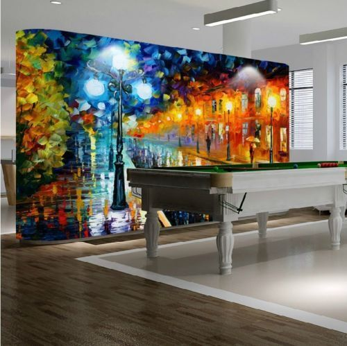3d Watercolour City Painting 83 Wallpaper Mural Wallpaper Wallpaper Picture Family De