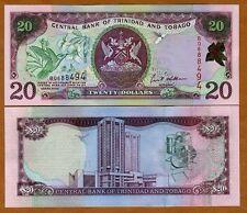 Trinidad and Tobago, 20 dollars, 2002, Pick 44 (44b), UNC