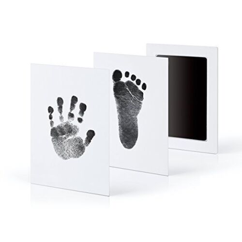 UK Baby Hand/&Foot INKLESS Print Cast Kit/&2 Photo Picture Frame Christening Gift