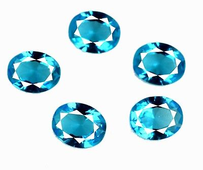 Loose Gemstone Lot 10.35 Ct Natural 5 Pcs Oval Swiss Blue Topaz AGSL Certified