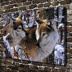 HD Canvas Print Paintings Animals Snow Wolf Home Decor ...
