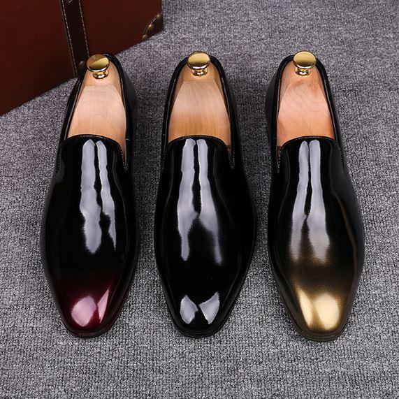nouveau Hommes enfiler bout pointu Mocassins Brillant Affaires formelle   de Loisirs Chaussures