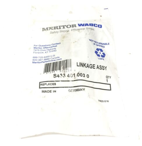 A-655691 Meritor//Wabco Leveling Valve Linkage Assembly S433-401-003-0 NOS