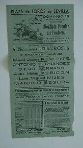 1951-Cartel-Plaza-de-Toros-Sevilla-Novillada-Popular-sin-Picadores-Corrida