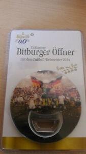 Flaschenoeffner-von-Bitburger-mit-dem-Fussball-Weltmeister-2014-Neu-OVP