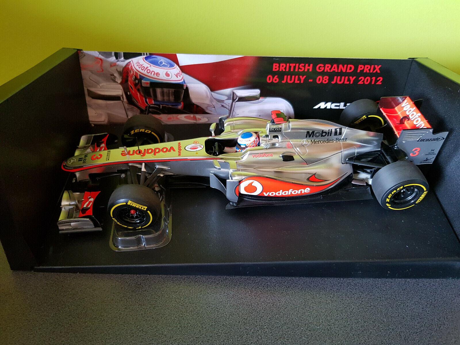 Minichamps 1 18 J. Button McLaren MP 4-27 Formula 1 British GP L.E. 1000 pc.