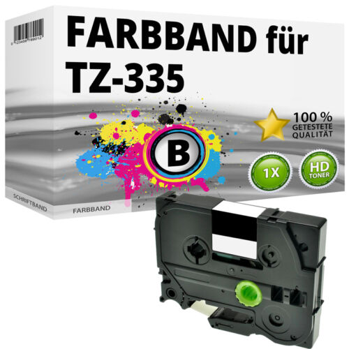 1x Farbband für Brother P-Touch 1000 1010 1080 1090 1230 PC1250 1280 TZ-335 ttp