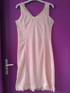 Combinaison-fond-de-robe-nuisette-vintage-taille-42-orange-pastelle