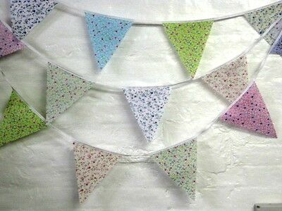 Traditional Floral Bunting, wedding, baby shower, shabby chic, 5 mt 19 flags
