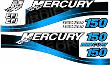 BLUE MERCURY 150 OUTBOARD FOUR STROKE MOTOR STICKERS DECAL KIT ENGINE
