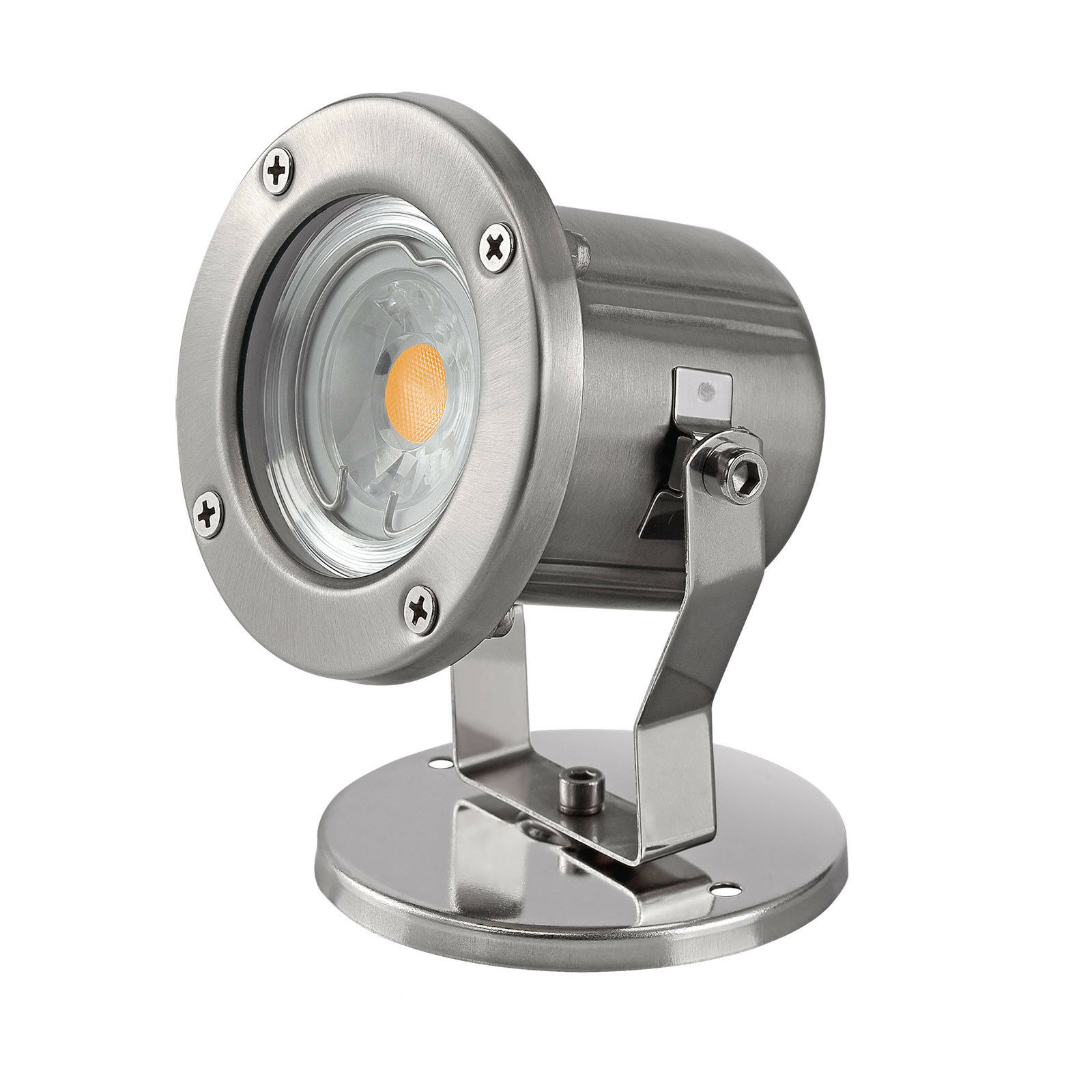 Edelstahl Teichleuchte Gartenlampe Außenstrahler Außenleuchte LED COB GU10 Teich