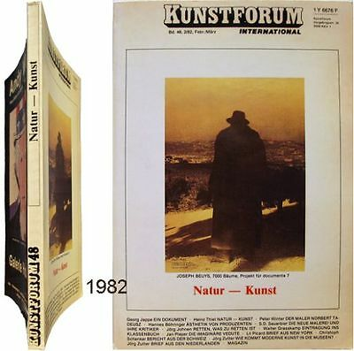 Kunstforum 48 Natur Kunst 1982 Heinz Thiel Land Art Norbert Tadeusz Richard Long Ongelijke Prestaties