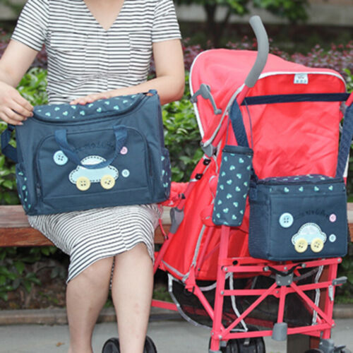 4Pcs//set Mummy Travel Baby Nappy Changing Bags Multifunctional Shoulder Blue