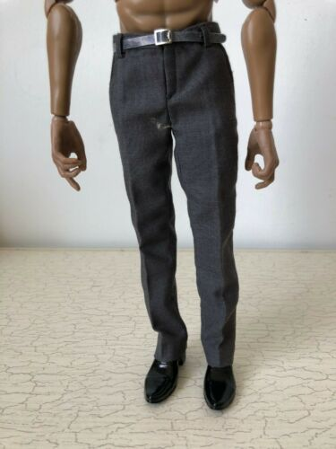 1//6 Male Gray Formal Trousers Pants Clothing With Belt Fit 12/'/' Action Figure