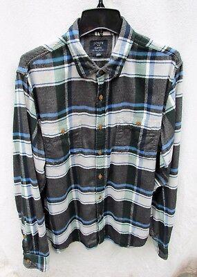 J. Crew Oxford Slim-Fit Flannel Shirt Top Plaid Mens L