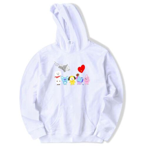KPOP BTS bulletproof youth group hoodie bt21 cartoon hoodie