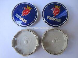 X4-Saab-Rueda-De-La-Aleacion-Centro-Centro-Tapacubos-Adornos-Set-63-Mm-nuevo-9-3-9-5-900-93-95