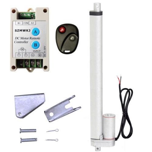 "1500N Linear Actuator 16/""Stroke12V Electric Motor Remote Controller Auto Lift CA"
