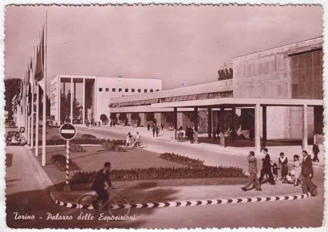 TORINO CITTÀ 458 PALAZZO delle ESPOSIZIONI Cartolina FOTOGRAFICA VIAGGIATA 1950