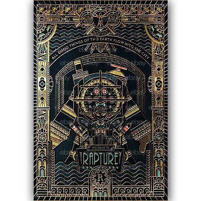 New Custom Silk Poster Bioshock Rapture Wall Decor