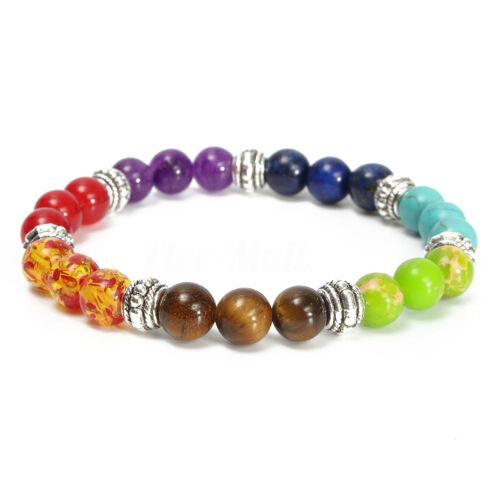 8 mm Naturel Labradorite Pierres Précieuses Guérison Cristal stretch perles Bracelet