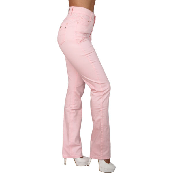 High Waist Damen Jeans Hose Schmetterling Nieten Stickerei gerades Bein Gold